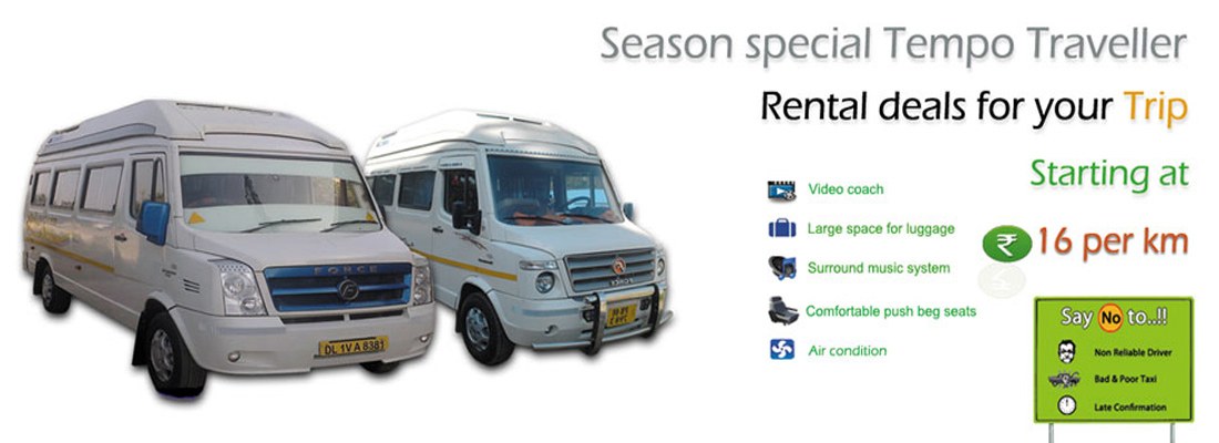 Ac Tempo Traveller Rental @ Rs.14 Per km