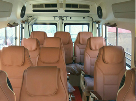 14 Seater Tempo Traveller in Delhi Noida Gurgaon @ Rs.18 Per km