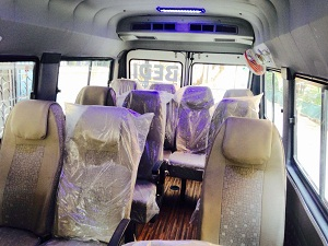 9 Seater Tempo Traveller in Delhi Gurgaon Noida @ Rs.14 Per km